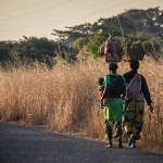 Women of Luapula, walking home